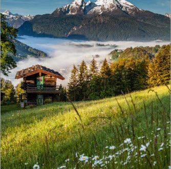 Posterlounge Leinwandbild 40 x 60 cm Fruehling in Berchtesgaden von 334x330 - Posterlounge Leinwandbild 40 x 60 cm: Frühling in Berchtesgaden von Fotomagie - fertiges Wandbild, Bild auf Keilrahmen, Fertigbild auf echter Leinwand, Leinwanddruck