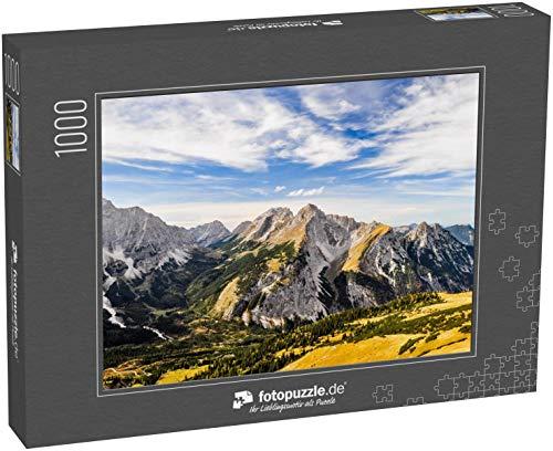 fotopuzzle.de Puzzle 1000 Teile Schöne Aussicht vom Gipfel des Mahnkopfes im Karwendelgebirge der nördlichen Kalkalpen in Österreich